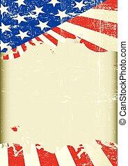 bandiera americana, cornice
