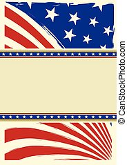 bandiera americana, fondo, bello