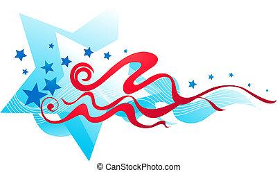 bandiera, americano, 2, -, bandiera