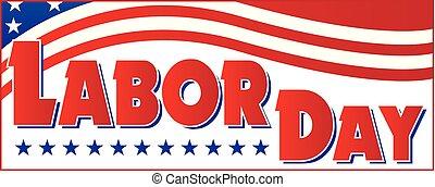 bandiera, americano, giorno, lavoro, bandiera
