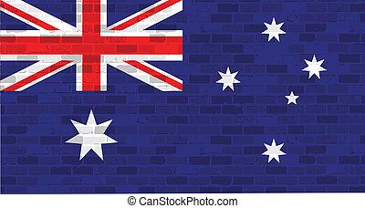 bandiera australia, disegno, illustrazione