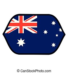 bandiera, australia, emblema
