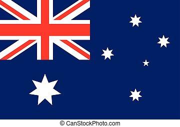 bandiera, australia, illustrazione