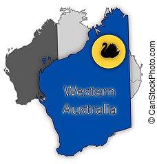 bandiera australia, territorio, occidentale