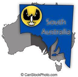 bandiera australia, territorio, sud