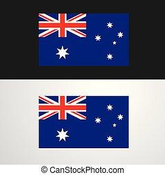 bandiera, bandiera, australia, disegno