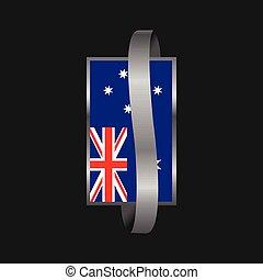 bandiera, bandiera, australia, disegno, nastro