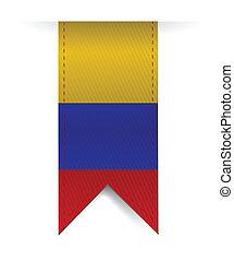 bandiera, bandiera, disegno, colombia, illustrazione