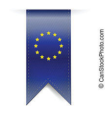 bandiera, bandiera, disegno, illustrazione, europeo