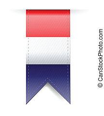 bandiera, bandiera, paesi bassi, disegno, illustrazione