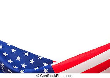 bandiera, bianco, bordo, fondo, ci