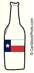 bandiera, birra, texas