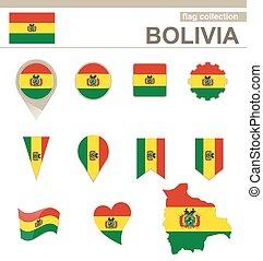 bandiera, bolivia, collezione