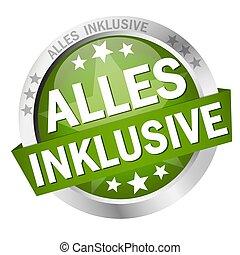 bandiera, bottone, (in, german), tutto, inclusivo