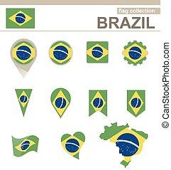 bandiera brasile, collezione