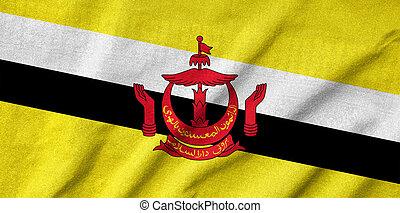 bandiera brunei, arruffato