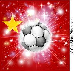 bandiera, calcio, porcellana