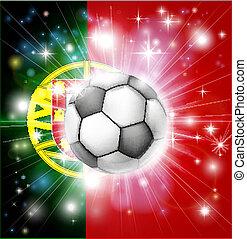 bandiera, calcio, portogallo