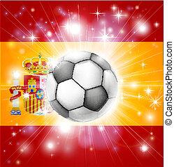 bandiera, calcio, spagna