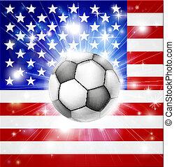 bandiera, calcio, stati uniti