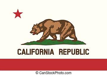 bandiera california, vettore