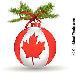 bandiera canada, buon natale, globe.vector