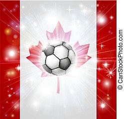 bandiera canada, calcio