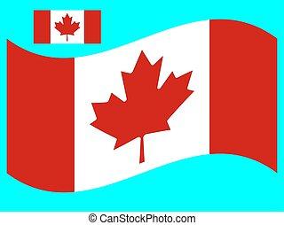 bandiera canada, eps, vettore, illustrazione, 10, onda