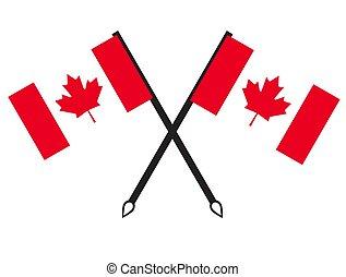bandiera canada, icona