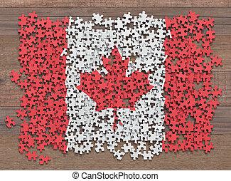 bandiera canada, puzzle