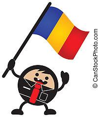 bandiera, cartone animato