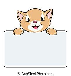 bandiera, cartone animato, gatto