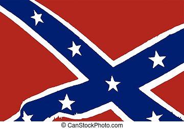 bandiera, ci, confederato