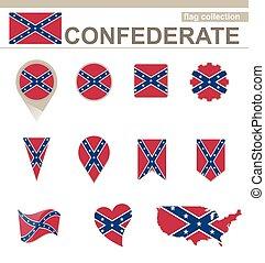 bandiera, collezione, confederato
