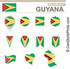 bandiera, collezione, guyana