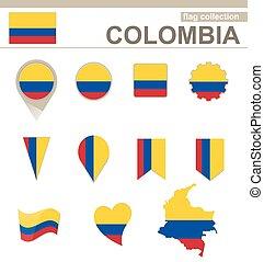 bandiera, colombia, collezione