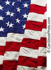 bandiera commemorativa, giorno, americano, 4, fondo, luglio, o