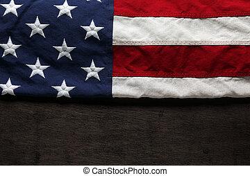 bandiera commemorativa, giorno, americano, 4 luglio, o