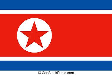 bandiera, corea, nord