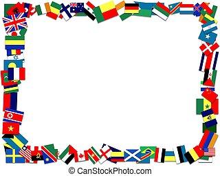 bandiera, cornice