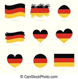 bandiera, correctly., nazionale, proporzione, ufficiale, germania, flag., colori