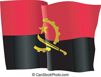 bandiera, di, angola