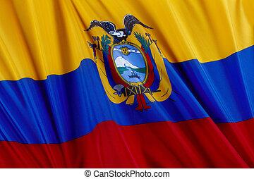 bandiera, di, ecuador