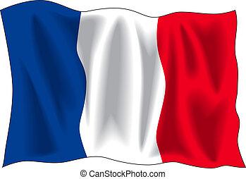 bandiera, di, francia