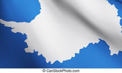 bandiera, di, il, antartic