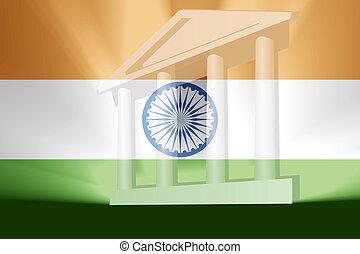 bandiera, di, india, governo