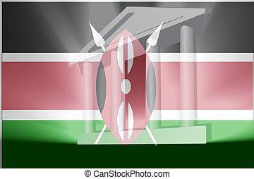 bandiera, di, kenia, governo