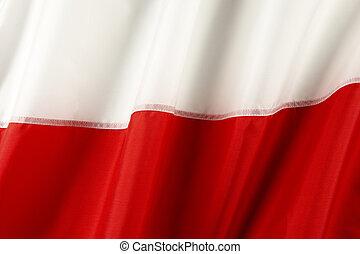 bandiera, di, polonia