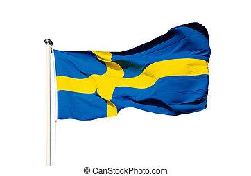 bandiera, di, svezia