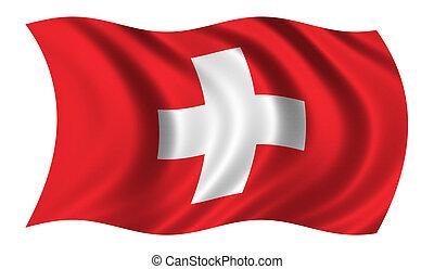 bandiera, di, svizzera
